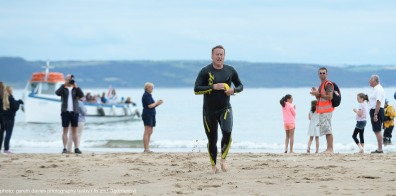 Caldey Swim 2016 - first home