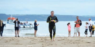 Caldey Swim 2016 - first home